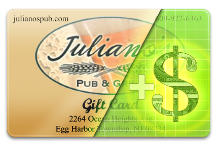 Add Value to your Juliano's Pub & Grill Gift Card