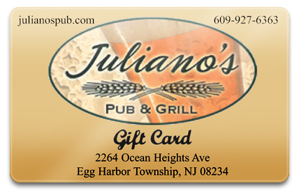 Juliano's Pub & Grill Physical Gift Card